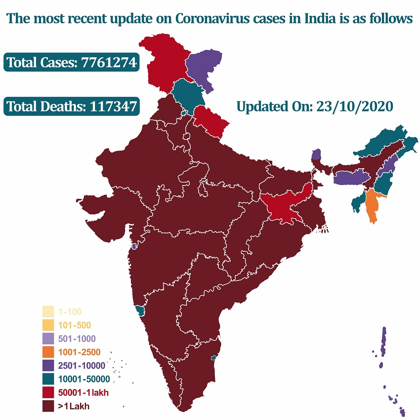 The most recent update on coronavirus cases in India   HealthSoul