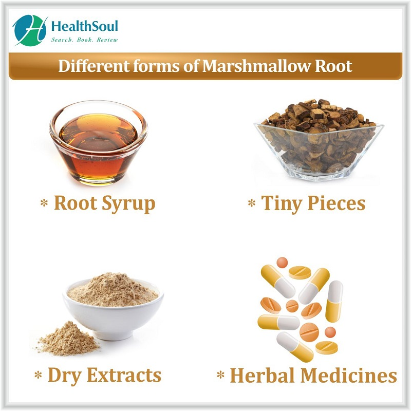 Different form of Marshmallow roots