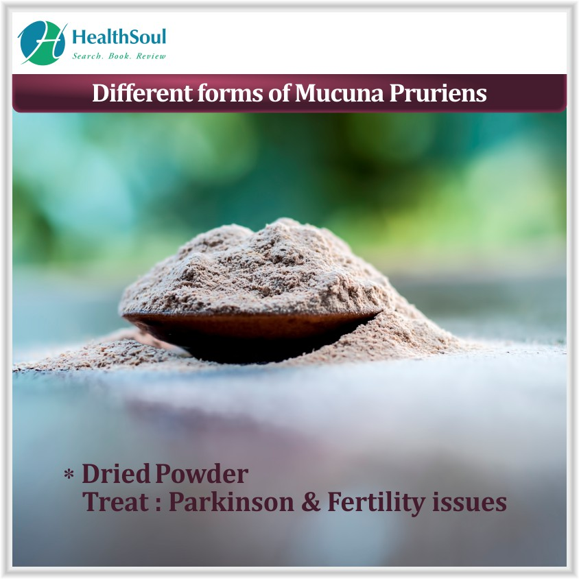 Different forms of Mucuna Pruriens