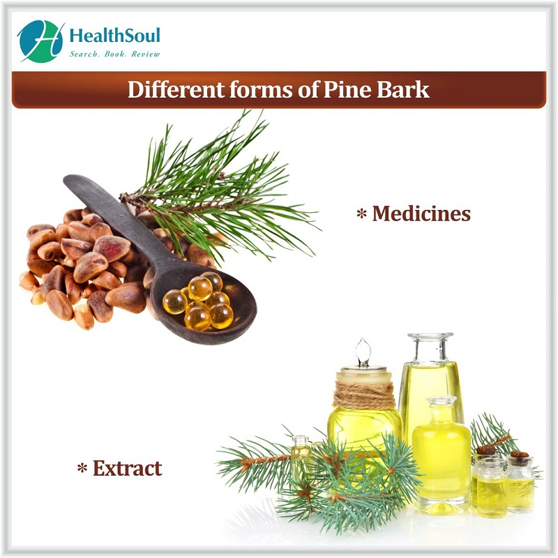 Different forms of Pine bark extract