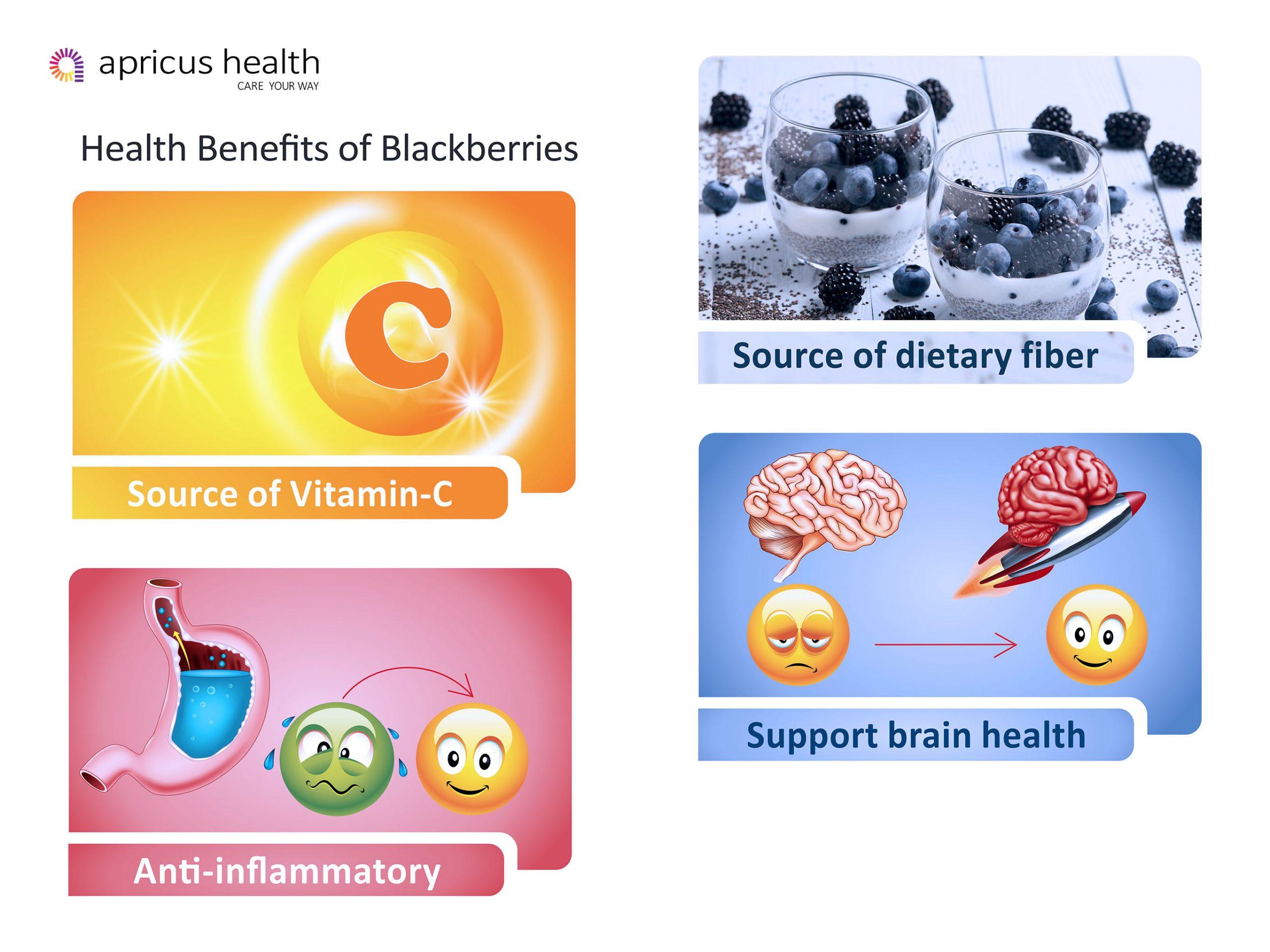 Top 4 health benefits of blackberries